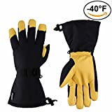 OZERO Ski Gloves, - 40°F Cold