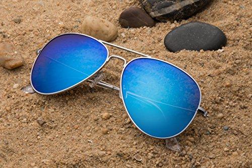 M Homme JAVIOL Sliver de blue Lunettes soleil Mirrored qw7U4