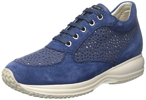 D Geox Damen Denim Happy Blau A Sneaker 88Zw5xqrg