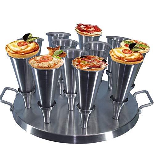 Forma Redonda Aluminio Para Pizza Cone 14cm com 24cones - Gastrobel