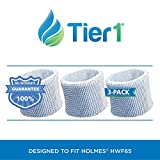 holmes humidifier filter 3 pack - Tier1 HWF65PDQ-U Comparable Holmes HWF65 Type C Replacement Humidifier Filter for Models HWF65 3 Pack