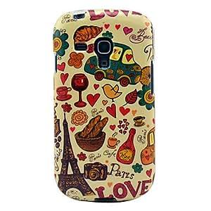 Eiffel tower & Bread Glossy TPU Soft Case for Samsung Galaxy S3 Mini I8190 I I8190