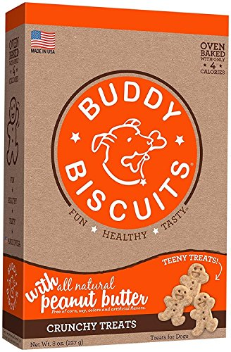 Cloud Star Buddy Biscuits Crunchy Itty Bitty Oven Biscuits Dog Treats with Natural Peanut Butter 8 oz