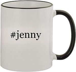 #jenny - 11oz Colored Handle and Rim Coffee Mug, Black