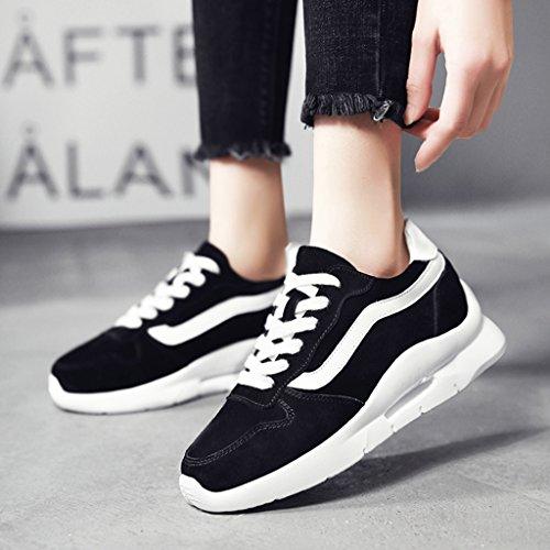 gruesa Calzado Calzado Zapatos Calzado de deportivo mujer 39 Negro casual Tamaño Color Calzado femenino para HWF mujer Negro vUg8X