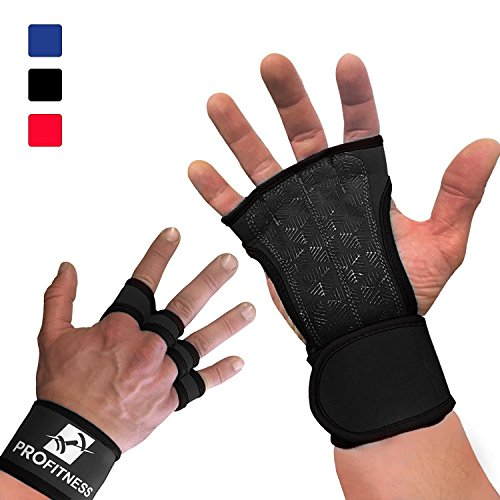Workout Gloves With Straps Best Workout Gloves for Weight Lifting, Gym Workouts (Black, Large)