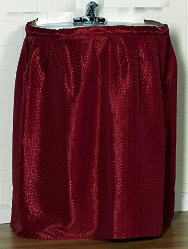 Diamond Dot Fabric Sink Skirt With Self Adhesive Strip - Burgundy