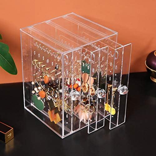 多機能透明なプラスチックジュエリーの宝石箱デスクトップ垂直Lagerungラックを仕上げストレージボックスダストイヤリング