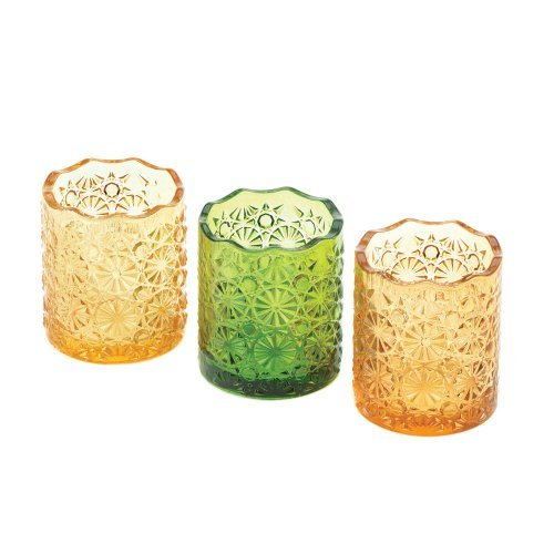 Lemon, Lime, And Orange Colored Candle Cups