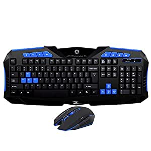 azzor f1 wireless gaming keyboard mouse passion original set 2 4 ghz usb receiver. Black Bedroom Furniture Sets. Home Design Ideas
