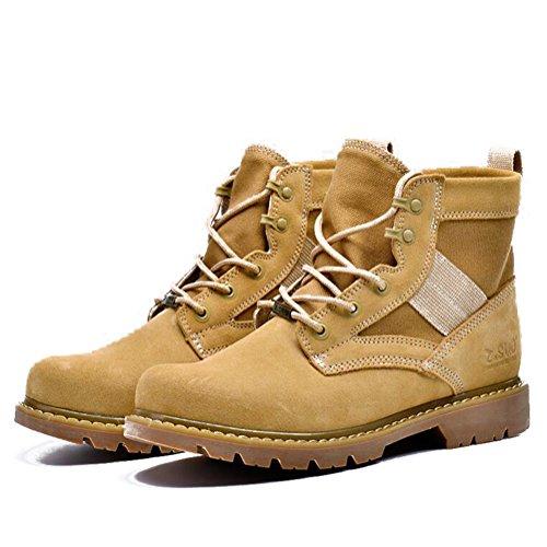 Chaussures Décontractées Mâle Montagne Escalade Costume Automne Bottes En Plein Air Sport Chaussures Slip Sur Brun-noir-brun Longueur Du Pied = 42eu