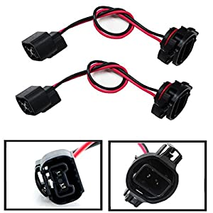 iJDMTOY (2) 5202 H16 Extension Wire Harness Sockets For Headlights, Fog Lights Retrofit Work Use