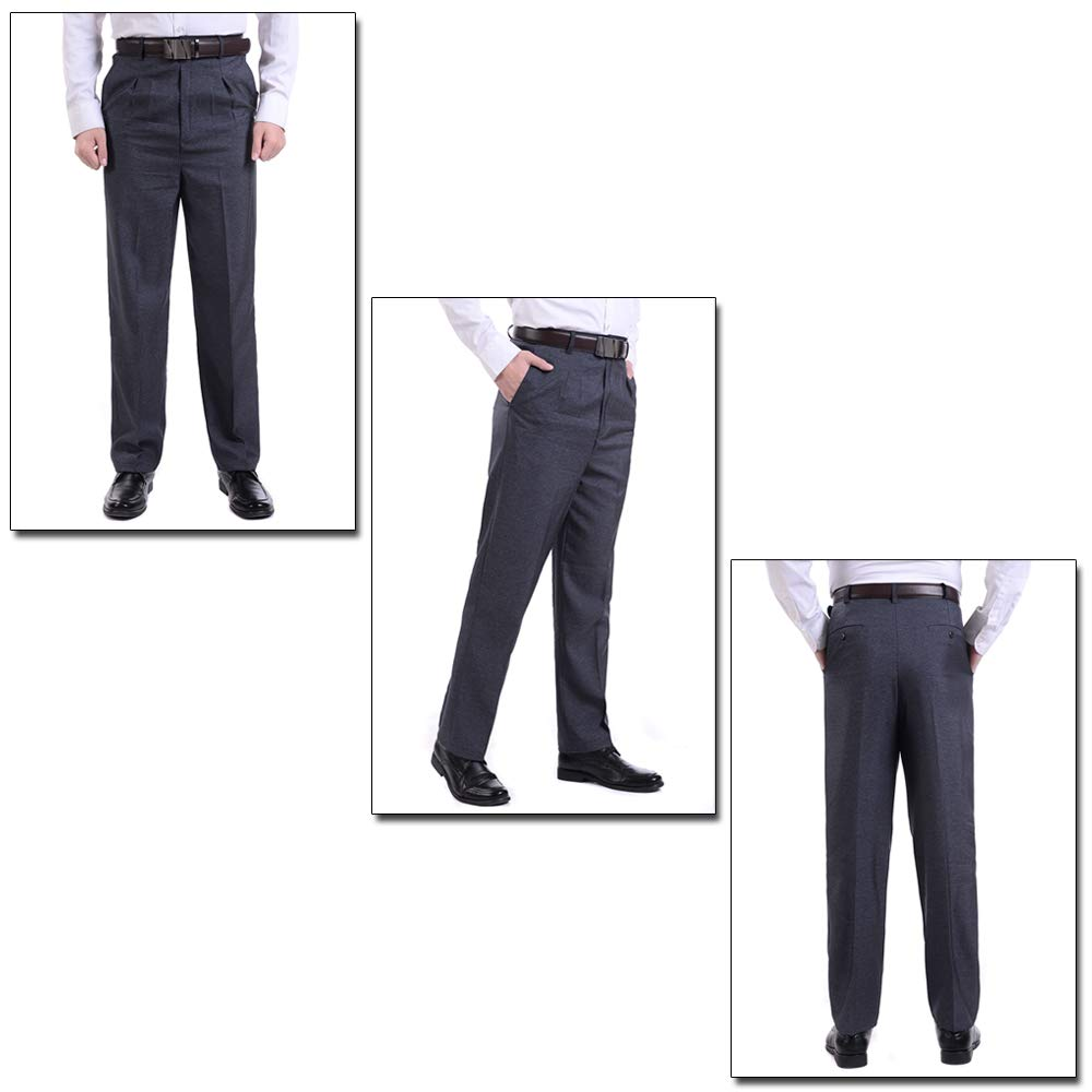 7a81cf191e1 KINDOYO Mens Suit Pants - New Casual Large Size Pants - 34 Style 02 at  Amazon Men s Clothing store