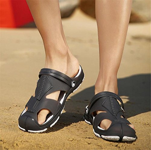 Playa Ocasionales Hombre Eu41 De Tamaño Sandalias Gray eu42 A Verano 39 Cerrado Nslxie Chanclas Dedo Zapatos 44 Antideslizantes IH14ww