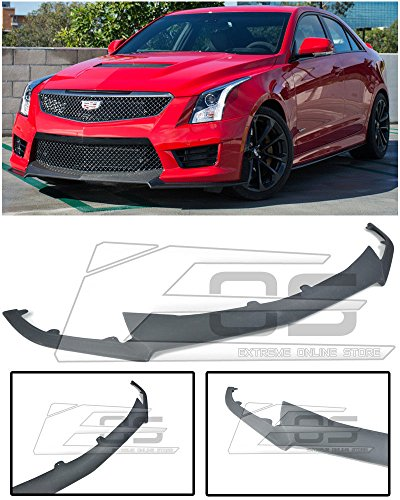 - Extreme Online Store Carbon Package Style ABS Plastic Primered Black Front Bumper Lower Lip Splitter For 2016-Up Cadillac ATS-V 2016 2017 2018 16 17 18 ATSV