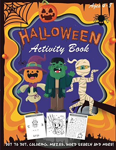 Fun Halloween Words (Halloween Activity Book: Kids Halloween Book | A Fun Book Filled With Dot to Dot, Coloring, Mazes, Word Search and More | Boys, Girls and Toddlers ... Puzzle Books, Halloween)