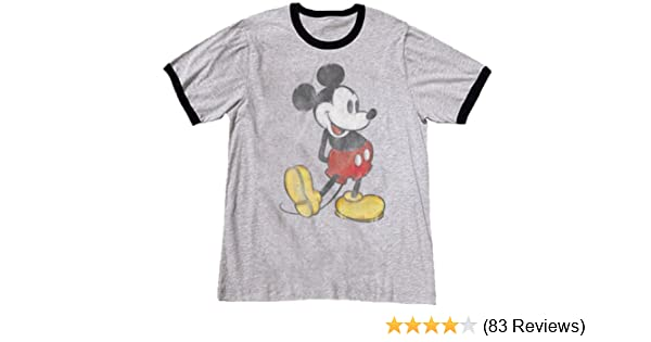 19afa4659 Amazon.com: Mens Classic Mickey Mouse T Shirt: Clothing
