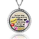 Image of Unique for Grandma Gifts, Perfect Gift for Mom Birthstone, Floating Charm Locket for Mom Gifts
