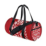 Happy Easter Eggs Cute Sports Gym Shoulder Handy Duffel Bags for Women Men Kids Boys Girls