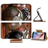 Luxlady Premium Samsung Galaxy S6 Edge Flip Pu Leather Wallet Case Close up of calabash cups for mate Mate is a traditional drink very similar to tea in Argentina Uruguay Paraguay and some parts o