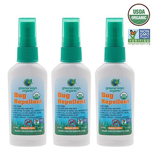 Greenerways Organic Repellent DEET FREE Mosquito Repellant