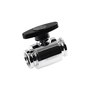 "Barrow G1/4"" Mini Valve with ABS Handle, Silver Shiny"