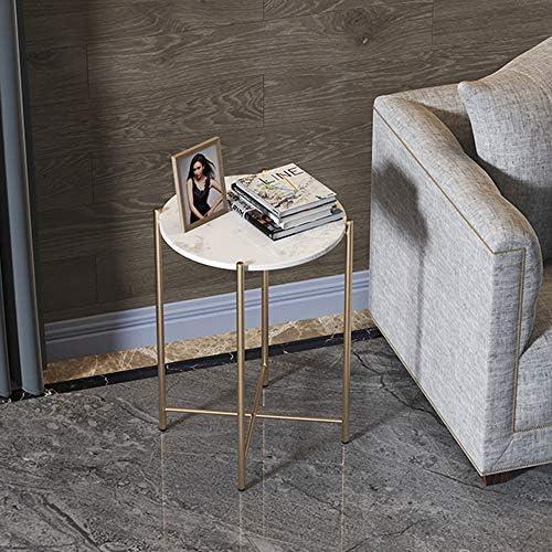 Axdwfd Table d\'appoint Métal Canapé Côté Table, Petite Table Basse, Salon Meubles De Bureau, Table De Chevet 40cm X 40cm X 55cm