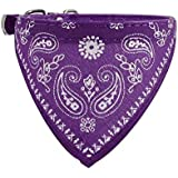Switchali Adjustable Pet Dog Puppy Cat Neck Scarf Bandana Collar Neckerchief S 1.0*30cm (Purple)