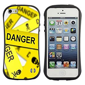 Suave TPU Caso Carcasa de Caucho Funda para Apple Iphone 5 / 5S / Danger Line Skeleton / STRONG