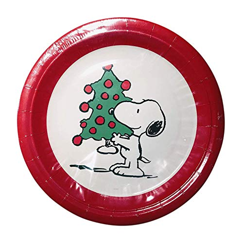 Graphique Snoopy Christmas Tree Plates Set 16 Coated 9