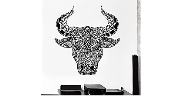 z3149 Wall Decal Animal Ornament Bull Aggressive Vinyl Decal