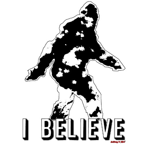 Bigfoot I Believe Sasquatch Paranormal Ufos Crytozoology Aliens Yeti Vinyl Decal By Achtung T Shirt LLC
