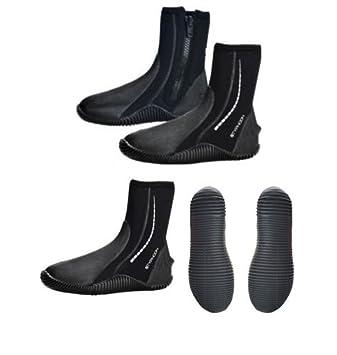 Typhoon - Botas de agua con cremallera, negro, UK ADULT 9