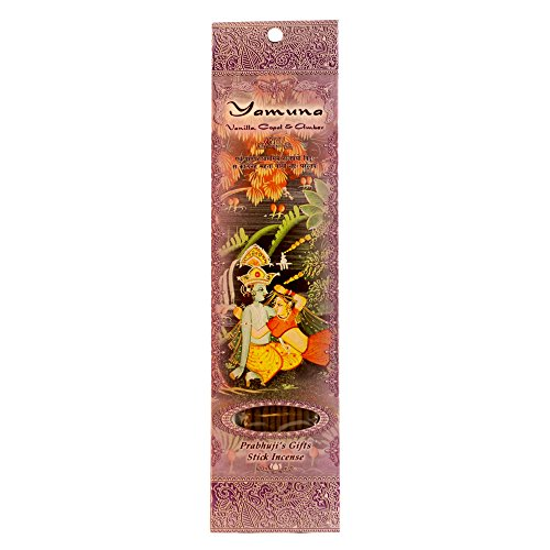 - Ramakrishnananda, Incense Stick Yamuna Vanilla Copal and Amber, 10 Count