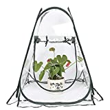 "Alapaste Pop Up Backyard Greenhouse Cover,Mini Greenhouse Indoor Outdoor Gardening Flowerpot Cover Backyard Flower Shelter for Outdoors,Home Plant Green House Garden Cover,21""x21""x31"""