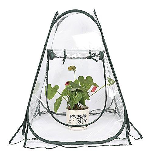 """Alapaste Pop Up Backyard Greenhouse Cover,Mini Greenhouse Indoor Outdoor Gardening Flowerpot Cover Backyard Flower Shelter for Outdoors,Home Plant Green House Garden Cover,21""""x21""""x31"""" by Alapaste"""