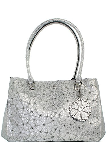 Guess Borsa Donna Jayne Girlfriend Satchel argento