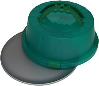 product image for OvenStuff Non-Stick Cake and Pastry Carrier with Matching Kelly Green Cover and Handles