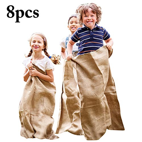 B bangcool 8PCS Burlap Sack Funny Potato Sack Race for sale  Delivered anywhere in Canada