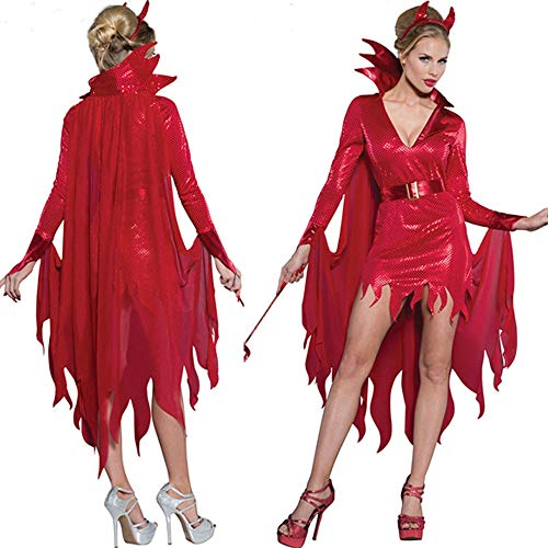 Halloween Babydoll Rosso Lingerie Mesh Red Gioco Ruolo Donna Sexy Abito Di XSQR dnq1vYwd