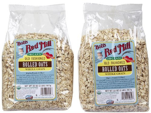 Bob's Red Mill Organic Rolled Oats, 32 Ounces (Pack of 2)