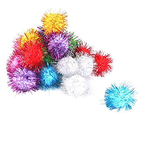 BleuMoo 21Pcs Pom Pom Balls Cat Toys Random Color hot sale 2017