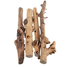 Emours Reptile Decor Natural Forest Branch Terrarium Wood Aquarium Ornament Assort Sizes, 4 Pack