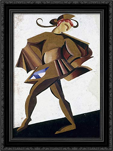 Theatrical Costume Design for The Play by William Shakespeare's Romeo and Juliet 18x24 Black Ornate Wood Framed Canvas Art by Aleksandra Ekster