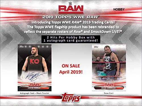2019 Topps WWE RAW Hobby 24 Pack BOX (Factory Sealed)(Random)