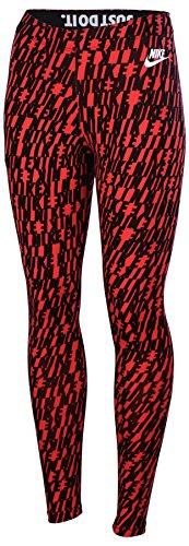 Nike Women's Leg A See All Over Print Leggings-Red/Black-Large