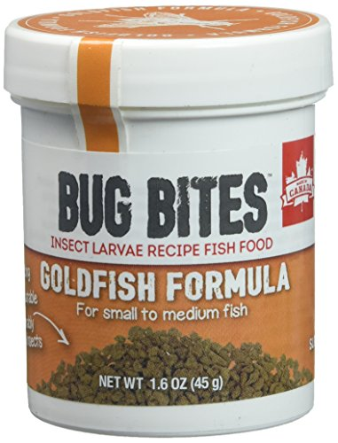 Fluval A6583 Bug Bites Goldfish Granules 1.59 oz, Small to Medium - Granules Food