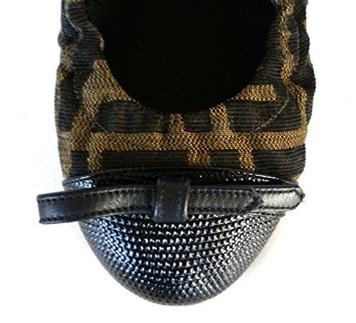 F0q81 Scarpe Zucca Nero W32 Ballerine Fendi Marrone Tabacco 8f4559 Donna qFxUT
