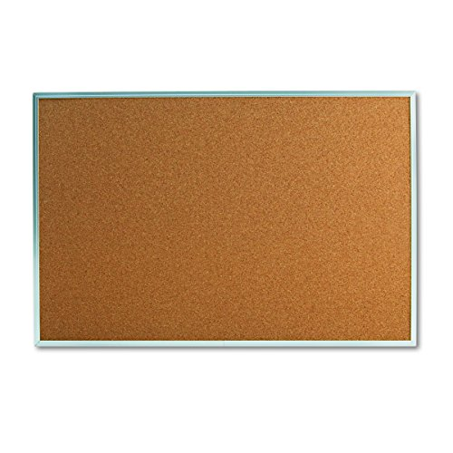 (Universal 43613 Bulletin Board, Natural Cork, 36 x 24, Satin-Finished Aluminum Frame)
