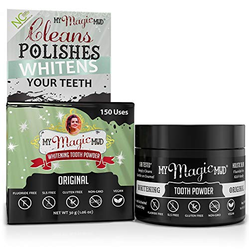 My Magic Mud - Whitening Tooth Powder, Polishing, Brightening, Charcoal, Original, 1.06 oz. (150 uses)